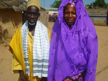 Village Chief and Queen Sheba Cisse